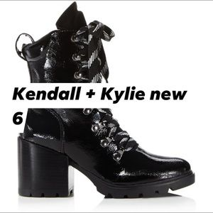 Kendall + Kylie new combat lace up black boots 6